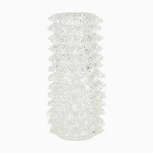Rostrato Series Vase in Clear Murano Glass with Venetian Crystal Decoration by Ercole Barovier for Barovier & Toso
