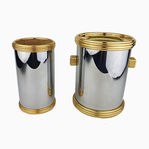 Wine and Champagne Cooler from Maison Lancel, France, 1970s, Set of 2