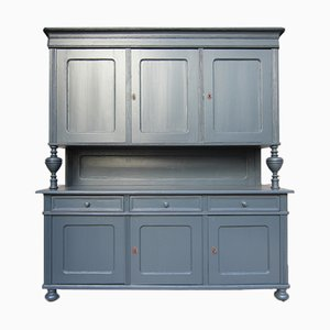Large Buffet with Top Cabinet in Anthracite