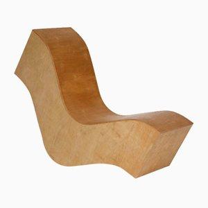 Vintage Wiggle Stuhl aus Schichtholz. 1980er
