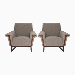 Mid-Century Scandinavian Lounge Chairs, Set of 2