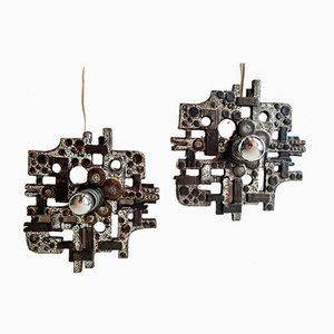 Wandlampen von Helmut Schäffenacker für Atelier Schäffenacker, 2er Set