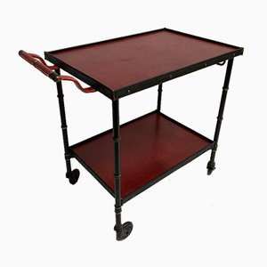 Leather Trolley by Jacques Adnet