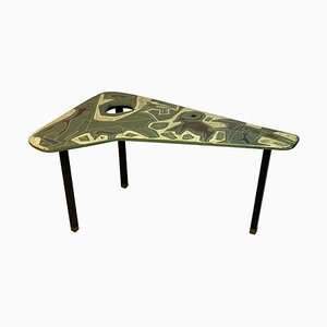 Mid-Century Coffee Table with Ceramic Top by Victor Cerrato