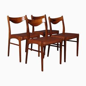 Esszimmerstühle von Arne Wahl, 4er Set