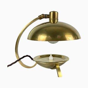 Art Deco Messing Tischlampe, 1930er