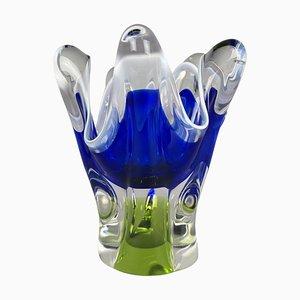 Art Glass Vase by Josef Hospodka for Chribska Glassworks, 1960s