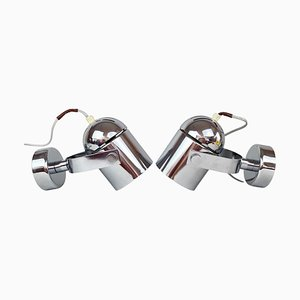 Mid-Century Chrome Wall Lamps by Stanislav Indra, 1970s, Set of 2