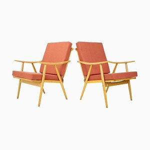 Armchairs from Ton, 1970s, Set of 2