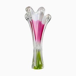 Tall Art Glass Vase by Josef Hospodka for Chribska Glassworks, 1960s