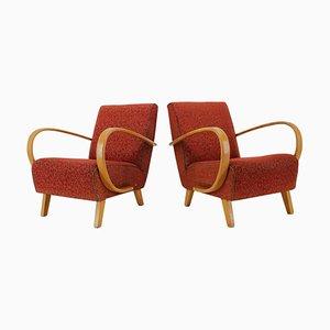 Armchairs by Jindrich Halabala, Czechoslovakia, 1940s, Set of 2