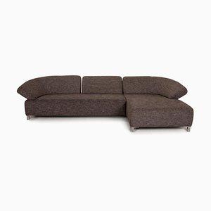 Gray Fabric Butterfly Corner Sofa by Ewald Schillig