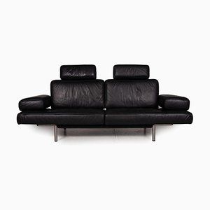Black Leather DS 460 3-Seater Sofa with Relaxation Function from De Sede