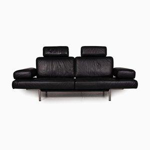 Canapé 3 Places DS 460 en Cuir Noir avec Fonction Relaxation de De Sede