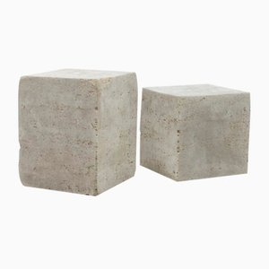 Pulp Block Table Plinth in Recycled Paper