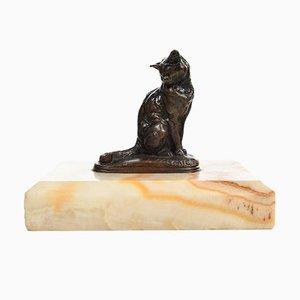 Bronze Katze von Emmanuel Frémiet