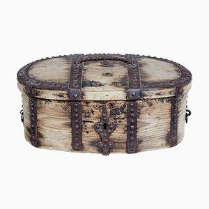 Caja sueca barroca Mid-Century de pino y metal