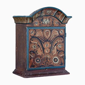 Early 19th Century Swedish Painted Wall Cupboard