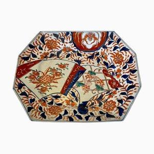 Antique Hand-Painted Imari Dish