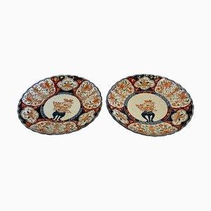 Antique Japanese Imari Plates, Set of 2