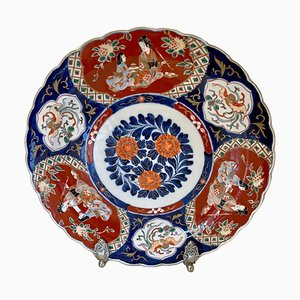 Large Antique Japanese Hand-Painted Imari Charger