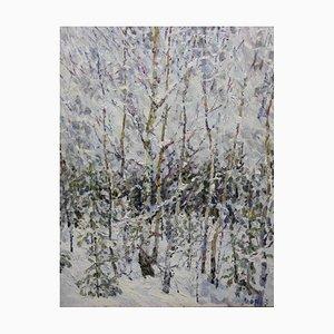 Georgij Moroz, Winter in the Forest, Ölgemälde
