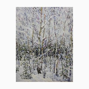Georgij Moroz, Winter in the Forest, Oil Painting
