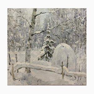 Georgij Moroz, Just Snowed, Oil Painting