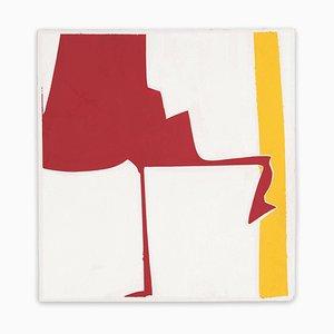 Covers 13-Rosso giallo, pittura astratta, 2014