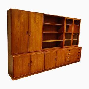Modular Cabinet by Borge Mogensen for Soborg Mobelfabrik, 1960s, Set of 3