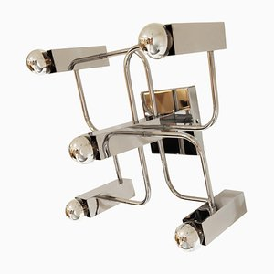Chrome Ceiling Lamp with 5 Light Points by Sciolari
