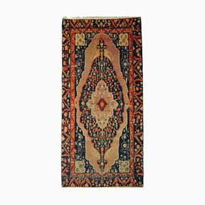 20th Century Pink and Blue Floral Samarkand Rug with Medallion, 1920s