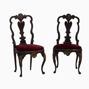 Danish Rococo Side Chairs, 1750s, Set of 2