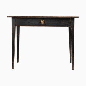 19th Century Swedish Gustavian Black Pine Side Table or Desk