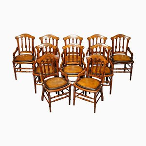 Georgian Dining Chairs from Gillows & Co, Set of 10