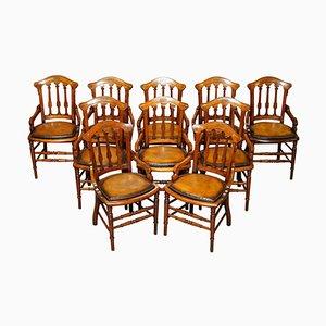 Georgianische Esszimmerstühle von Gillows & Co, 10er Set