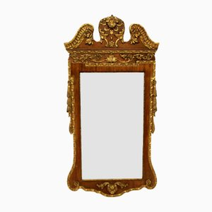 George II Style Walnut and Parcel Gilt Mirror, 1930s
