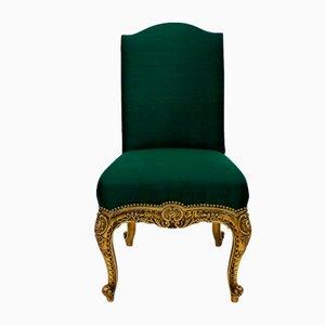Antike spanische Beistellstühle aus vergoldetem Holz, 2er Set