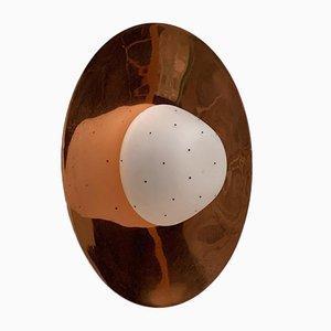 Mid-Century Copper Plafoniere Ceiling Lamp