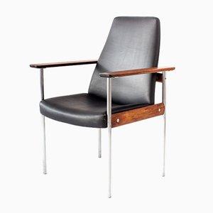 Sedia con schienale alto in palissandro di Sven Ivar Dysthe per Dokka