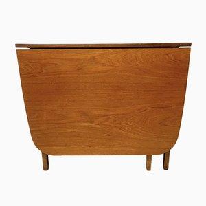 Vintage Teak Folding Gate Leg Dining Table