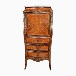 Napoleon III Sekretär aus Holz mit Intarsien