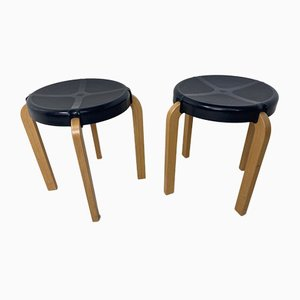 Vintage Scandinavian Style Stools from Kembo, 1970s, Set of 2