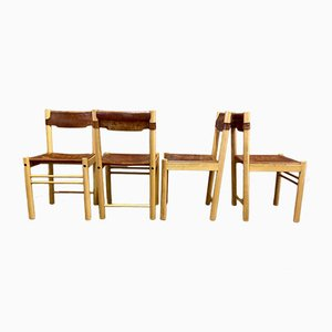 Leather Chairs from Ibisco, 1960s, Set of 4