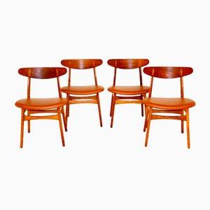 CH30 Chairs by Hans J. Wegner for Carl Hansen & Son, 1960s, Set of 4