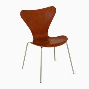 Model 7 Chairs by Arne Jacobsen for Fritz Hansen, 1950s, Set of 4