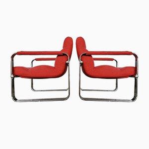 Silberne Serie Sessel von Eero Aarnio, 2er Set
