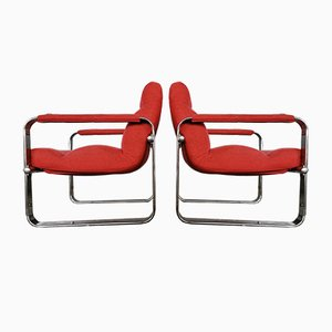 Silver Serie Easy Chairs by Eero Aarnio, Set of 2
