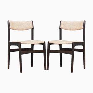 Dänische Eichenholz Stühle, 1970er, 2er Set