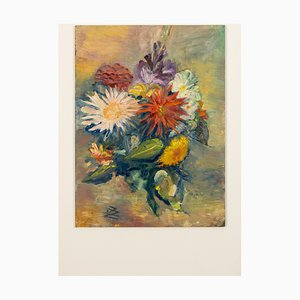 Blumenstrauß, Ölgemälde